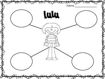 Lulu and the Brontosaurus: Graphic Organizers & Craftivities