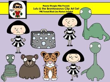 Lulu and the Brontosaurus Inspired Clip Art Set