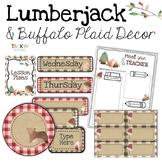 Lumberjack & Buffalo Plaid Classroom Decor Bundle