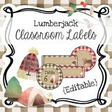 Lumberjack & Buffalo Plaid {Editable} Classroom Labels Assortment