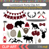 Lumberjack Party Clip Art, Woodland Clipart, Lumberjack Pl