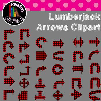 Lumberjack Plaid Arrows Clip Art