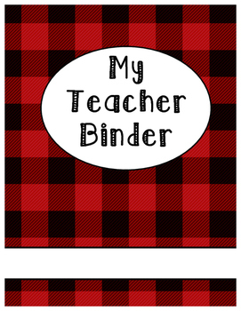 Lumberjack Plaid Binder Cover