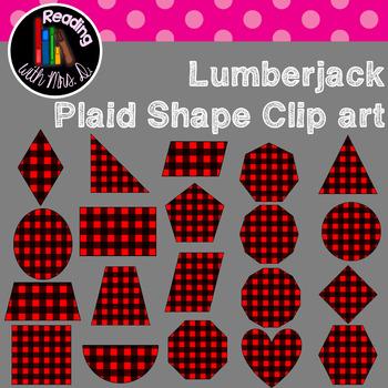 Lumberjack Plaid Geometric 2D Shapes Clip Art