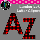 Lumberjack Red Plaid Letters Clip Art