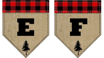 Lumberjack Theme Banner Letters