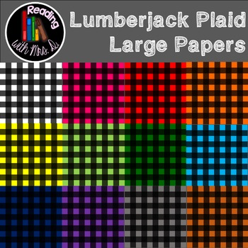 Lumberjack plaid large pattern paper