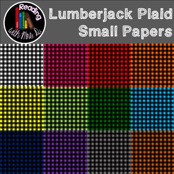Lumberjack plaid small pattern papers