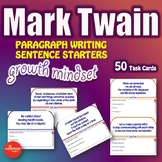 Luminaries-NO PREP-Growth Mindset Paragraph Writing Sentence Starters MARK TWAIN
