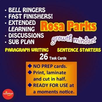 Luminaries -NO PREP- Sentence Starters - Paragraph Prompts - ROSA PARKS
