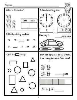 First Grade Daily Math: Book Two