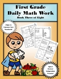 First Grade Daily Math: Book Three