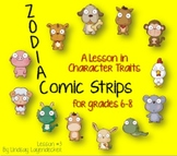 Character Traits Lesson Plan Using Comic Strips