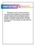 Lunar Cycle Birthday Activity