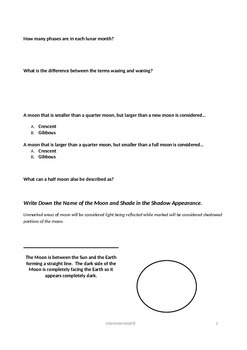 Lunar Cycle Guided Notes