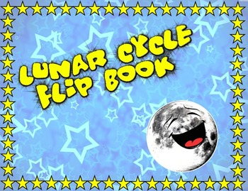 Lunar Cycle Interactive Vocabulary Flip Book