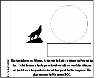Lunar Cycle Interactive Vocabulary Flip Book Teacher Edition