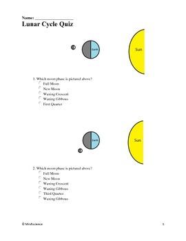 Lunar Cycle Quiz