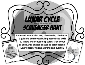 Lunar Cycle Scavenger Hunt