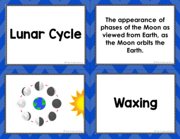 Lunar Cycle Vocabulary Sort