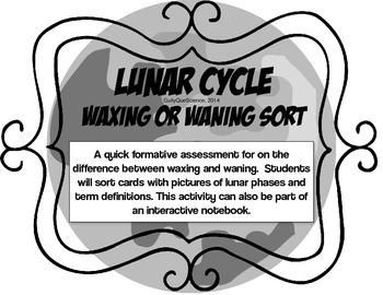 Lunar Cycle Waxing or Waning Sort