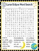 Lunar Eclipse Activities Crossword Puzzle and Word Search Find