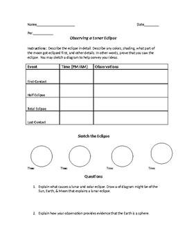 Lunar Eclipse Quiz Homework
