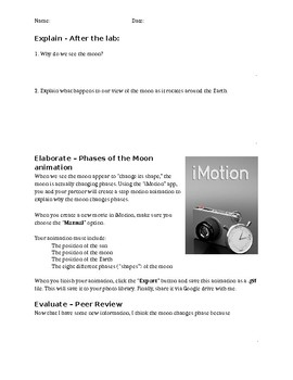 Lunar Lollipop Lab - 5E Science Lesson Phases of the Moon