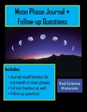Month-long Lunar Moon Phase Journal Log Diary WITH questions!