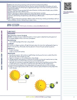 Lunar Phases - STEM Lesson Plan with Journal Page