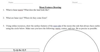 Lunar Surface Features Worksheet