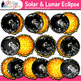 Solar Eclipse 2019 Clip Art | Astronomy Graphics for Science Lessons