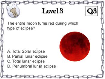 Lunar and Solar Eclipses Activity: Escape Room - Science