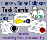 Solar and Lunar Eclipses Task Cards Activity (Space Science/ Astronomy Unit)