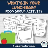 Lunch Bag Food Group Activity