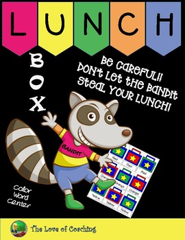 Lunch Box Bandit {Color Word Game}