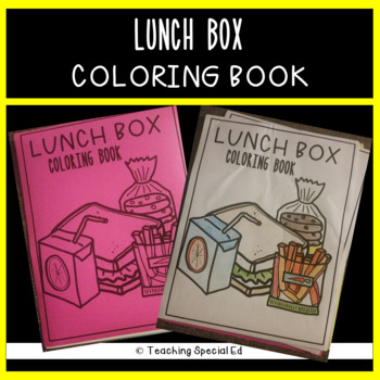 Lunch Box COLORING BOOK - **FREEBIE**
