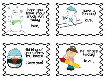 Lunch Box Love Notes for Little Ones!  FREEBIE!
