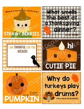 Lunch Box Notes Fall Autumn Digital Tag Printable- For Parents