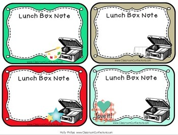 Lunch Box Notes {Editable}