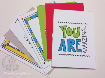 Lunch Box Notes | Motivational Quotes | Printable Mini Cards | Back to School