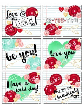 Lunch Box Notes- Wild and Free Digital Printable