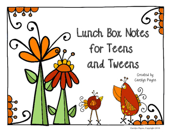 Lunch Box Notes for Teens and Tweens