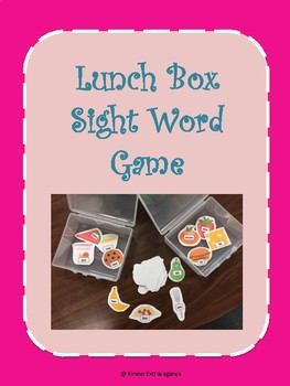 Lunch Box Sight Word Game
