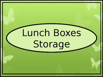 Lunch Box Storage Crate Label - Butterfly Theme