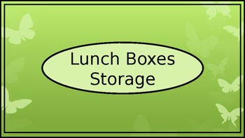 Lunch Box Storage Crate Label - Butterfly Theme - Wide