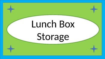 Lunchboxes, Snacks, and Water Bottles Storage Crate Label - Lime & Teal