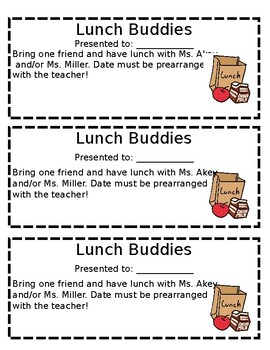 Lunch Buddies Coupon