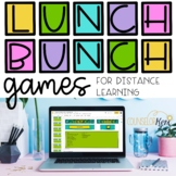 Lunch Bunch Activities: Counseling Games for Distance Learning