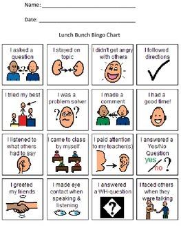 Lunch Bunch Bingo